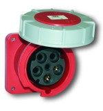 Industrial Flanged Socket - CEE type - Insulated