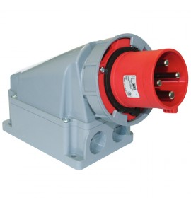 Industrial Wall Mounted Plugs - CEE Type - Insulated