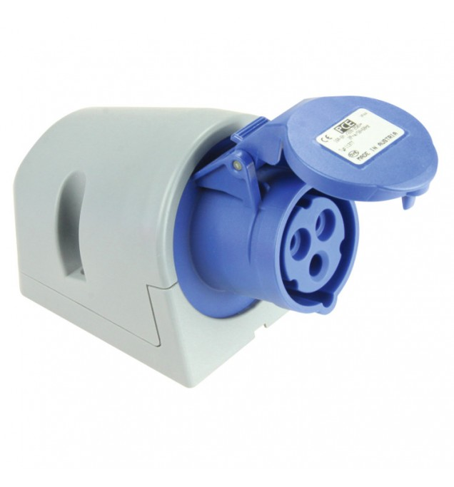Industrial Wall Mounted Socket - CEE type - Insulated