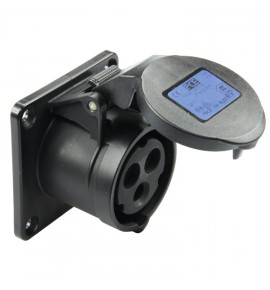 Flanged Socket For Light & Sound Industry ( Event Industry ) - CEE type - Insulated